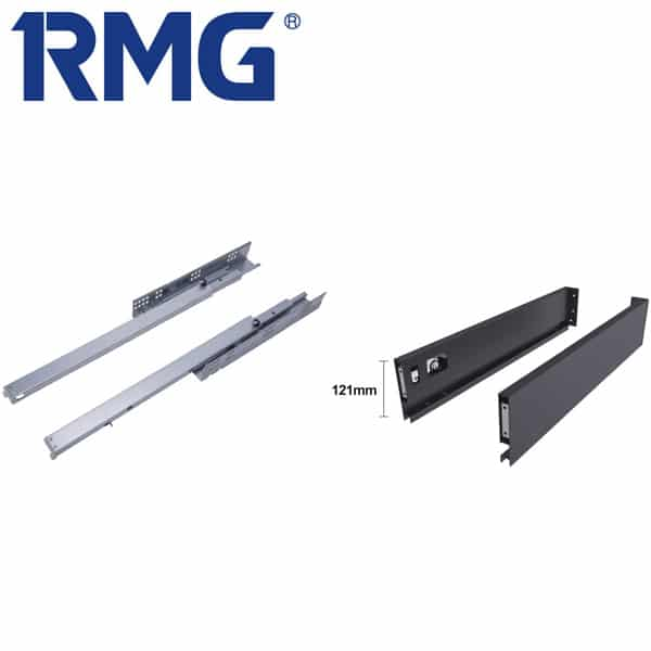 121 mm slim kitchen drawer slides system RA031