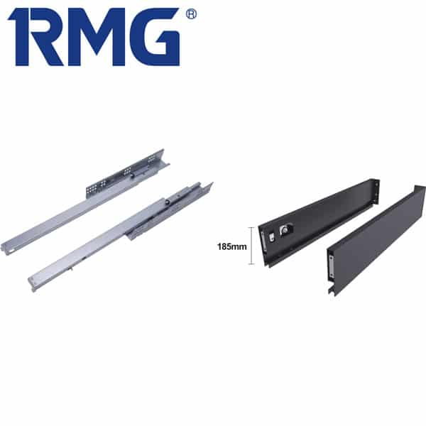 185mm height exterior drawer self closing drawer slides RA04
