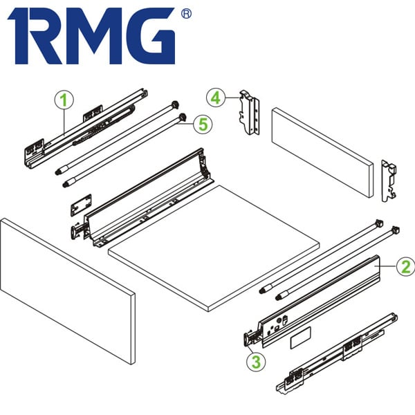 200mm metal box best drawer slides RL033