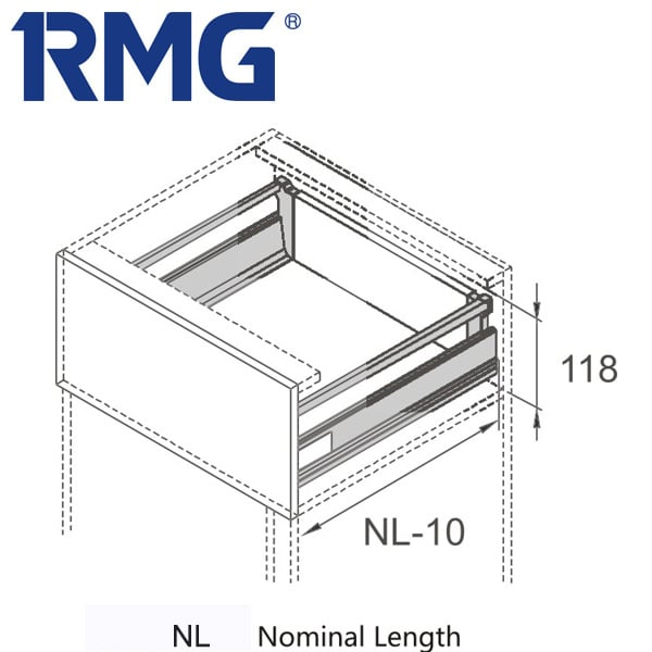 Double walled drawer with best soft close drawer slides RL142