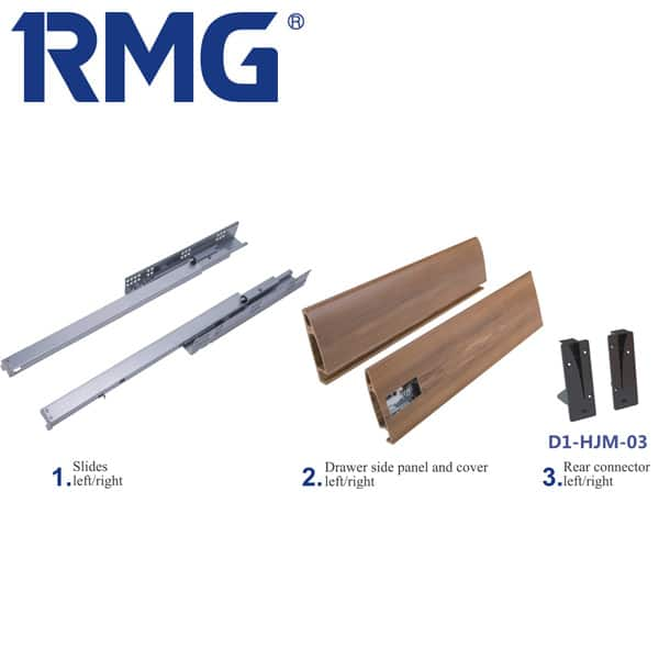 Eco-friendly double wall kitchen drawer runners RB03(1)
