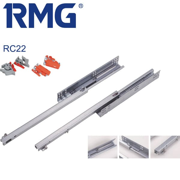 Single extension undermount drawer slides RC222