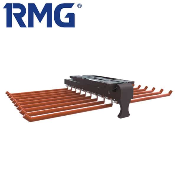 Top mounted pull out pants rack MY R502