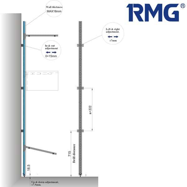 Wall paneling wardrobe system
