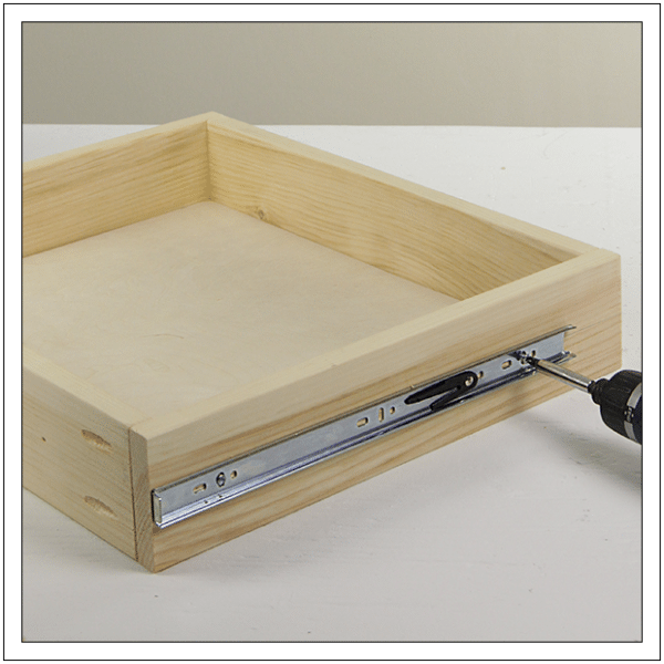 drawer frame and slide