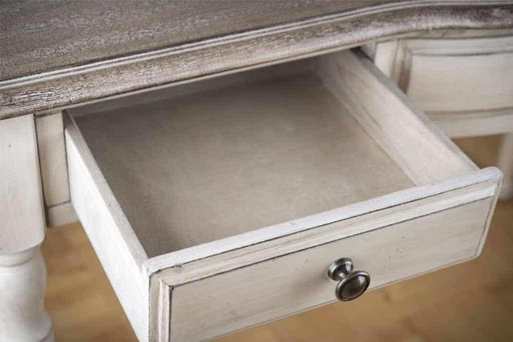 white wooden drawer
